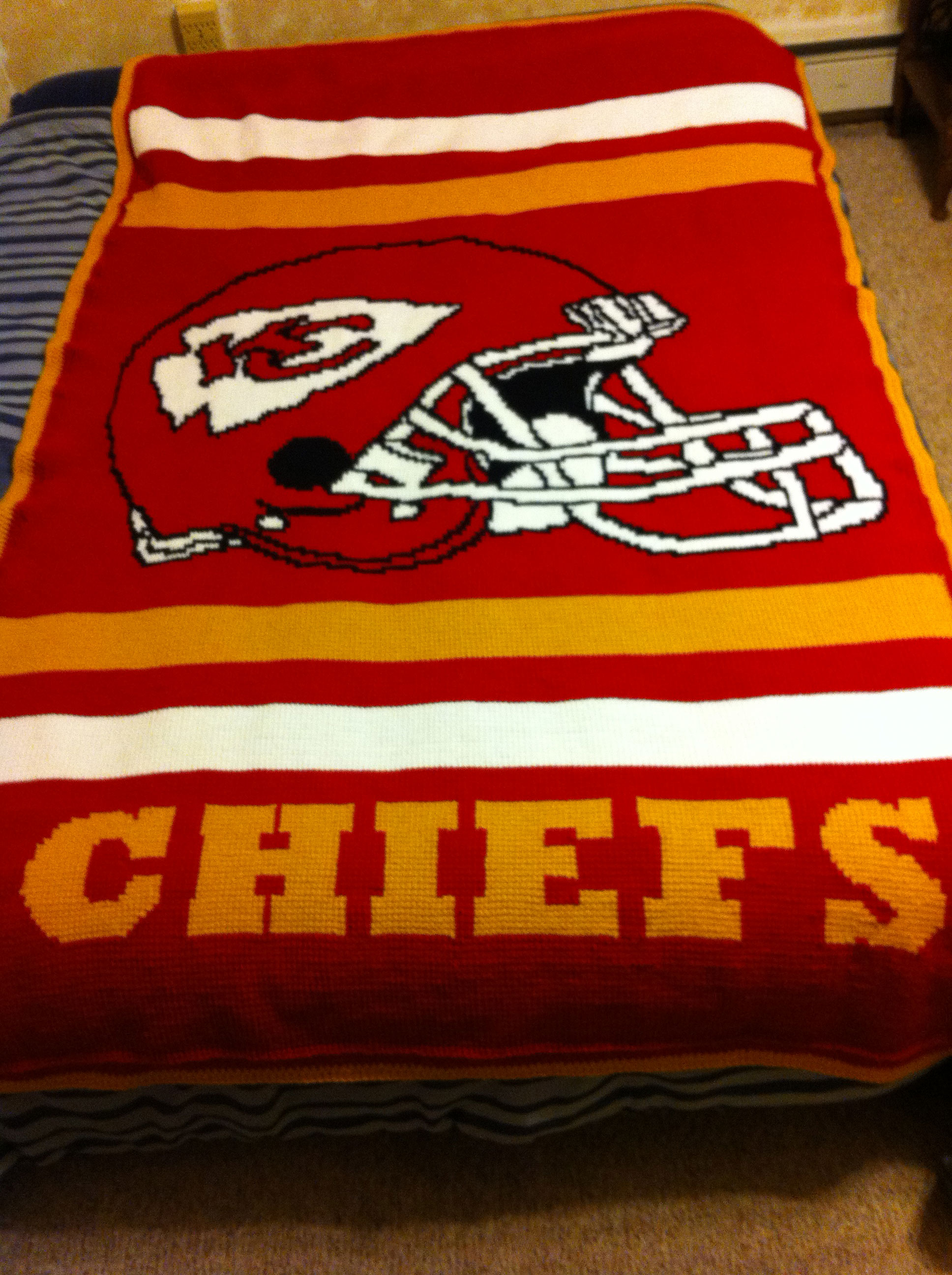Crochet Pattern Kansas City Chiefs Afghan : Kansas city royals, Kansas city and Afghans on Pinterest